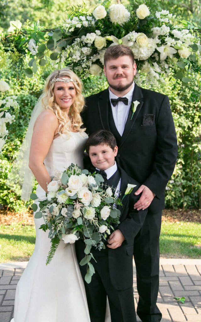 Never Alone Recovery owner Austin at his wedding party